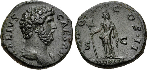 aelius roman coin as